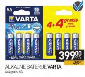 Alkalne Baterije Varta