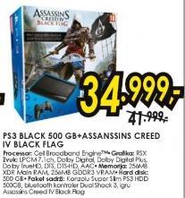 Konzola PS3 Black 500GB Assanssins Creed IV Black Flag