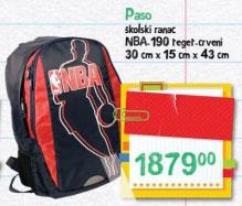Paso školski ranac NBA 190 teget-crveni