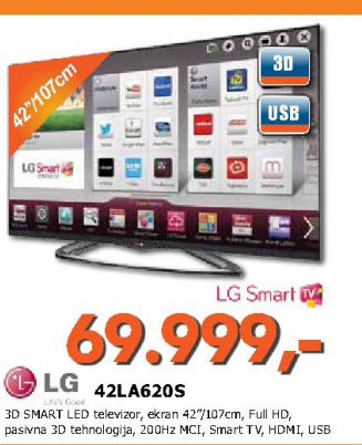 Televizor LED LCD 42LA620S