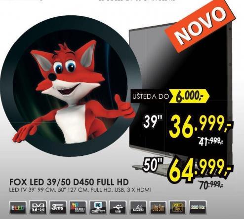 """Televizor LED 50"""" 50d450 Full Hd"""