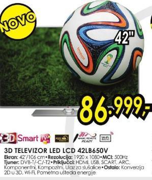 """Televizor LED 42"""" 3D 42lb650v"""
