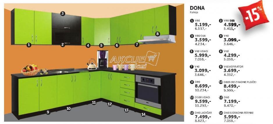 Kuhinjski element D40 Ladičar Dona