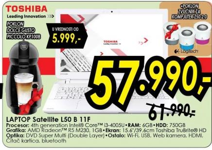 Laptop Satellite L50 B 11f