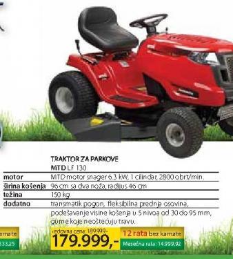 Traktor za parkove MTD LF 130
