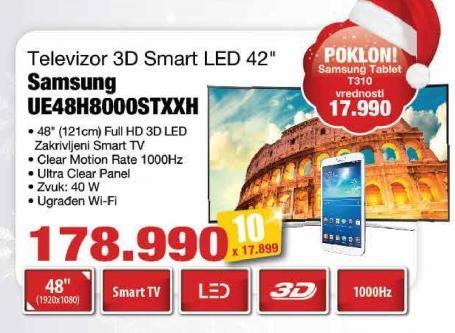 """Televizor LED 48"""" 3D Ue48h8000stxxh"""