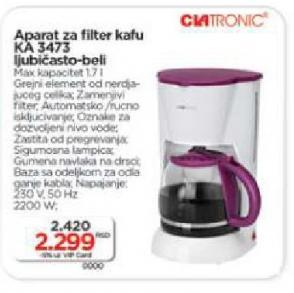 Aparat za filter kafu KA 3473
