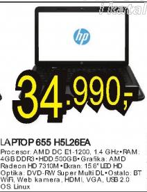 Laptop 655 H5L26EA