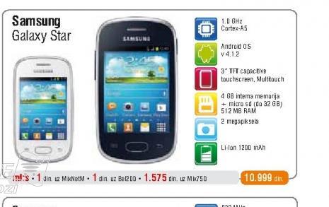 Mobilni telefon Galaxy Star S5280