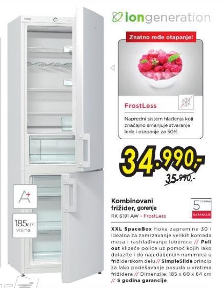 Kombinovani frižider Rk 6191 Aw