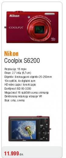Fotoaparat Coolpix S6200