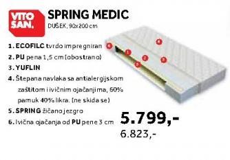 Dusek 90 x 200 cm Spring Medic