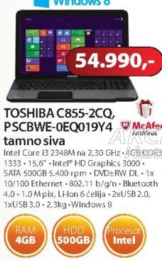Laptop Satellite C855-2CQ, PSCBWE-0EQ019Y4