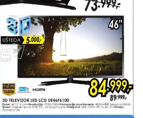 Televizor LED LCD UE-46F6100