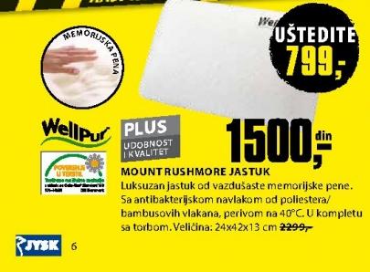 MOUNT RUSHMORE JASTUK