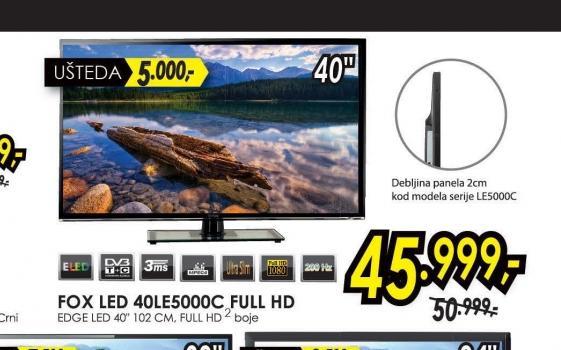 Televizor LED LCD 40LE5000C FULL HD