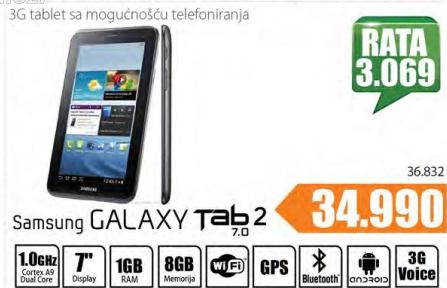 Tablet Galaxy Tab 2 P3100 3G