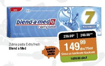 Pasta za zube Extra fresh
