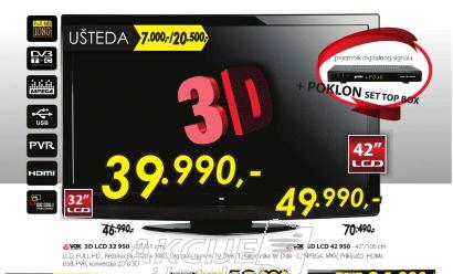 3D LCD 32 950 + PRIJEMNIK DIG. SIGNALA