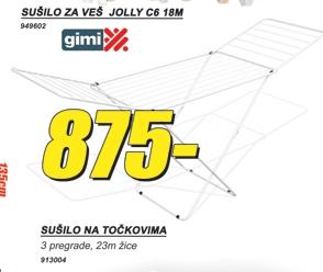 Sušilo za veš JOLLZ C6 18M