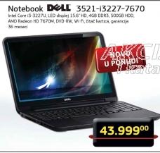 Laptop Inspiron 3521-i3227-7670