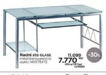 Radni sto Glass