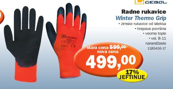 Radne rukavice, GEBOL