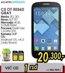 Mobilni telefon C5 OT 5036d Grey