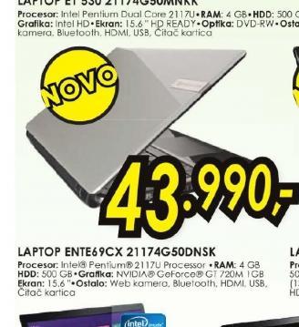 Laptop Ente69CX 21174G50 DNKS