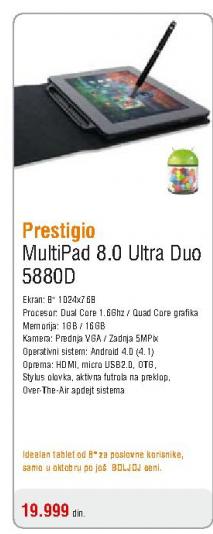 Tablet  Multipad 8,0 Ultra Duo 5880D