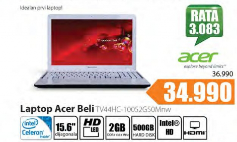 Laptop Beli TV44HC-10052g50Mnw