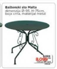Baštenski sto Malta