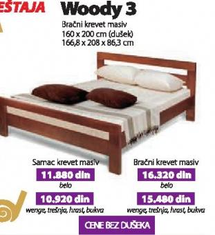 Bračni krevet Woody 3