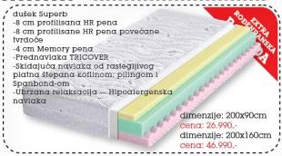 Dušek Superb 200x160 cm