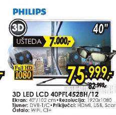 Televizor LED LCD 40PFL4528H/12