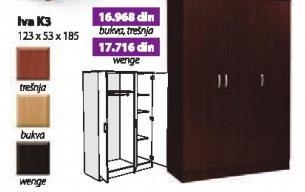 Garderober Iva K3 wenge