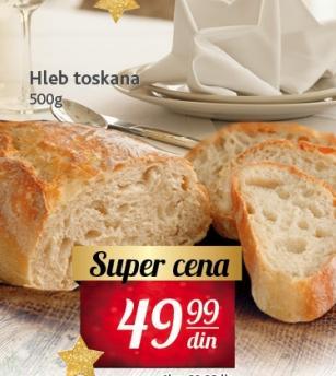 Hleb Toskana sa pšenicom