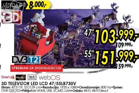 """Televizor LED 55"""" 3D 55lb730v"""