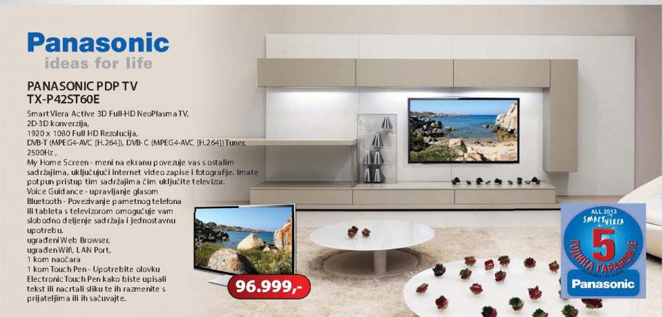 """3D Smart Plasma TV 42"""" TX-P42ST60E"""