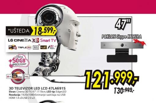 Televizor LED 3D 47LA691S