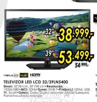 Televizor LED LCD 32LN5400