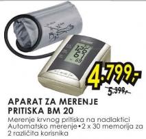 Aparat za merenje pritiska bm 20