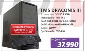 Računar TMS Draconis III + poklon Gembird V1 set
