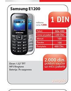 Mobilni telefon E1200, Black