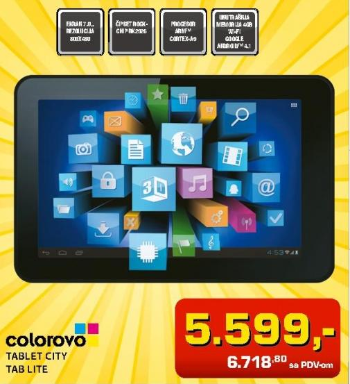 Tablet Colorovo Tablet City Tab Lite