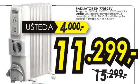 Radijator KH 770925V