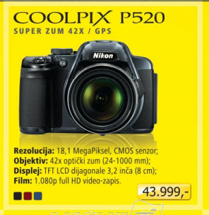 Digitalni fotoaparat Nikon Coolpix P520