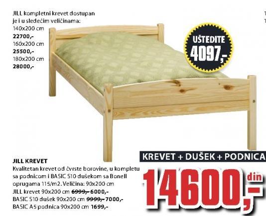 Krevet Jill 90x200cm