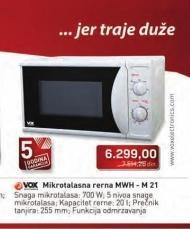 Mikrotalasna rerna MWH-M21