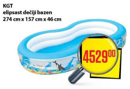 KGT elipsast dečiji bazen